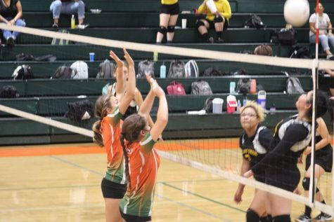 The JV Team beat The Tribe in two sets.  Photo contributed by the El Granito Yearbook Staff