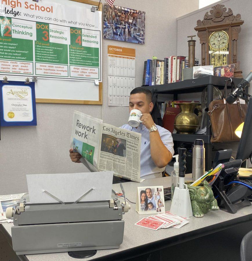 Teacher of the Week- Mr. Diaz